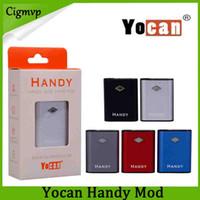 Otantik Yocan Handy Kutusu Mod 500 mAh Pil Ayarlanabilir Gerilim Vape Mods Ile Manyetik 510 Adaptörü Için Kalın Yağ Kartuşu 100% Orijinal