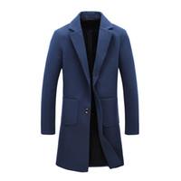 معطف الشتاء جديد مصمم أزياء رجالي معطف طويل خريف وشتاء Windproof سليم خندق الرجال بالإضافة إلى حجم JS0068