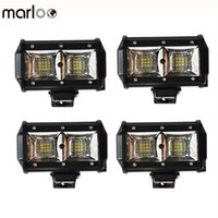 4pcs 7 Inch 54W LED Light Pods Driving Fog Light Off Road Wo...