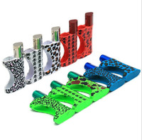 Mini tubulação de plástico com tigela de metal Removível titular de tubulações portáteis portáteis para compressores de ervas secas Whipper