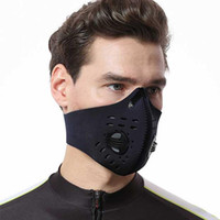 Traspirante carbone attivo Ciclismo Maschera della bici di montagna della bici della strada della bicicletta maschera di protezione mezza antipolvere Ciclismo sport correnti