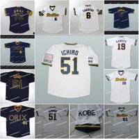 efc05cb9bc0 Ichiro Suzuki  51 Orix Blue Wave New Men Baseball Jersey Navy Blue Any Size  Fan Apparel ...