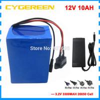 10 stks Groothandel 12V 10AH LIVEPO4 batterij 150W 12V 10000mAh batterij 12V LFP EBIKE UPS-batterij met 15A BMS 14.6V 3A-oplader