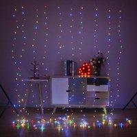 휴일 장식 조명 문자열 (300) LED 창 커튼 반짝 별이 빛나는 조명 웨딩 8 조명 모드 원격 제어