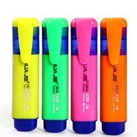 Colorful Highlighters Marker Pen 4 Colors Sign Fluorescent P...