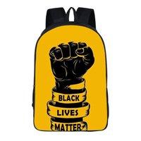 أنا غير قادر على التنفس الظهر رسالة طباعة حقائب الكتف أسود حياة المسألة مدرسة حقيبة نايلون حقائب السفر حقيبة الظهر التخزين GGA3462-5