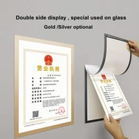 Double side display A4 Magnetic PVC Glass Mounted self- adhes...