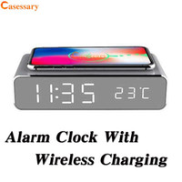 2020 Hot Sale Travel Electric LED Alarm Clock with Phone Wir...