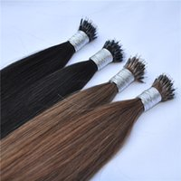 Drop Shipping 100strand pacco Nano Anello di estensioni dei capelli Prezzo promozionale brasiliana diritta superiore Nano Bead Hair Extension
