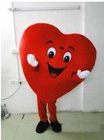2019 caldo Fabbrica cuore rosso di adulti del costume della mascotte operato da formato del costume della mascotte del cuore il trasporto libero