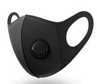 재고! 3 레이어 호흡 와이드 스트랩 빨 재사용 머플러 피타와 밸브 유니섹스 스폰지 방진 안티 PM2.5 오염 페이스 마스크