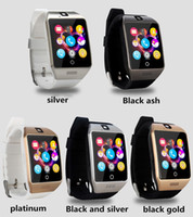 Hot Q18 smart watch relojes bluetooth smartwatch reloj de pulsera con cámara TF ranura para tarjeta SIM / podómetro / anti-pérdida / para teléfonos android de apple