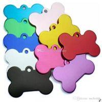 Multicolor 38MM Собаки Tag Bone Shape Design Pet ID карты сплав Cat Dog Tags Животные Supplies Factory Direct b428-435 2018011507