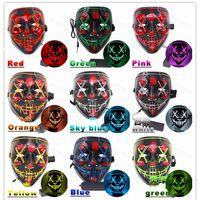 Máscara de Halloween con luces LED Básico y activado por voz Versiones opcionales 10 colores Máscaras de lujo para vacaciones de fiesta de cosplay