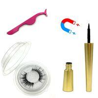 Manyetik Sıvı Eyeliner Manyetik Yanlış Kirpikler Cımbız Seti Mıknatıs Yanlış Kirpik Seti Tutkal Makyaj Aracı RRA1139