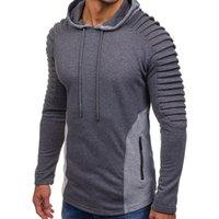 Frühling Mens Art und Weise drapierte Hoodies Fest Herbst neue beiläufige mit Kapuze Sweatshirts Pullovers