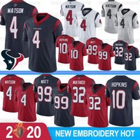 4 Deshaun Watson Maillot Homme 99 J.J. Watt 10 DeAndre Hopkins 87 Demaryius Thomas 32 Tyrann Mathieu 90 Clowney 2020 New Hot