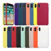 Liquide luxe Etui en silicone pour iPhone 7 8 6S 6 Plus 11 Pro X XS MAX XR valisette iphone 7 8 plus X 10 cas de couverture officiel d'origine