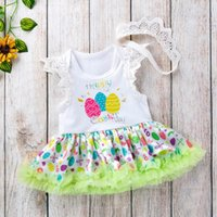 f69242a0e840 New Arrival. Easter baby girl clothes Baby Dress Romper Newborn Romper  Infant Jumpsuit Lace tutu skirts princess Baby Rompers +crown ...