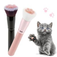 Cute Cat Claw Twarzy Szczotka Luźny Proszek Super Miękkie Rumienka Szczotka Rzeźbicia Makijaż Szczotka Piękno Makijaż Narzędzia
