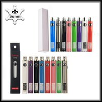 Batteria originale Evod UGO V II V3 650mAh 900mAh Ego 510 8 colori Carica micro USB Passthrough Penna Vape Batteria Vs Vision Spinner 2