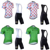 Tour de France Takım Bisiklet Kısa Kollu Jersey (BIB) Şort Setleri Sıcak Satış Yüksek Kalite Bisiklet Jersey Kısa Kol Seti C2628