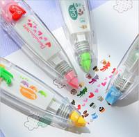 bandes de décoration autocollant stylo ruban floral drôle doux enfants de papeterie étiquette Creative Cartoon presse papier ceinture correction Papeterie Décoration