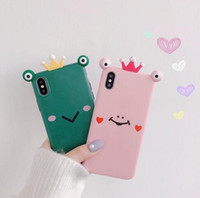 Cute frog apple XS Max XR for mobile phone shell iPhone8plus...