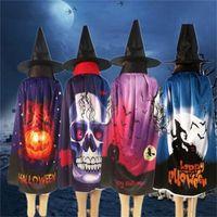 Halloween manteau festival cos jouer prop couverture homme femmes squelette humain chauve-souris motif citrouille manteaux vente chaude 9 5yn L1