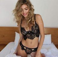 2020 Yeni Sıcak Satış Kadınlar pijamalar Dantel İç Hollow Saydam İç Frenum Kayış İç Seksi Lingerie Set F011