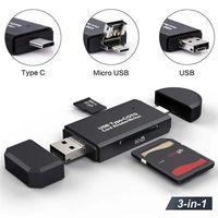 SD Card Reader USB 3.0 OTG Micro USB Type C Lecteur de carte mémoire SD Lector Carte Reader Micro SD TF USB de type C OTG Cardreader