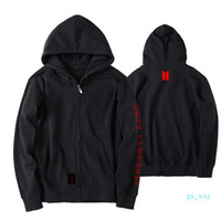 BTS Love Yourself capa del casquillo con capucha World Tour Fleece jimin V SUGA flojo de la cremallera de la chaqueta unisex con capucha Outwear