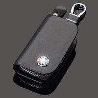 Véritable sac en cuir voiture clé pour Buick BMW toyota nissan volkswagen audi vw Honda Lexus Chevrolet Mazda Hyundai détenteurs de cas auto Keychain