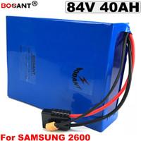 Livraison gratuite 84V 40AH batterie au lithium de vélo électrique pour Samsung 26F 18650 batterie d'origine 84v 3000W E-vélo batterie au lithium