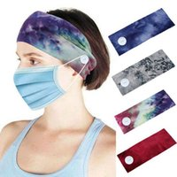 Yoga Sport Headwrap button Hair Band Sport Sweat Turban Wide Stretch Headwear Hair Accessories Buckle Headband KKA7864