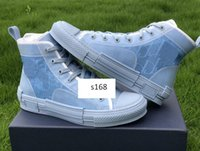 Gli ultimi Canvas Fiori tecnico B23 High Top Sneakers in obliquo Designer Shoes Mens B23 Womens scarpe di tela