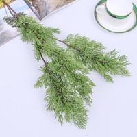 Yapay Çam Selvi Plastik Dökmeyen Sahte Bitki Noel Düğün Ev Ofis Mobilya Dekor Bardian 6 2hq F1