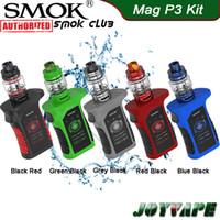SMOK Mag P3 Kit 230W avec réservoir TFV16 Propulsé par double 18650 cellules Conique Mesh Coil IP67 étanche Vape Mod Kit 100% authentique