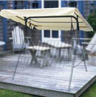 Livraison gratuite en gros ventes chaudes Beige Patio remplacement Swing Canopy Shade 194x112 cm