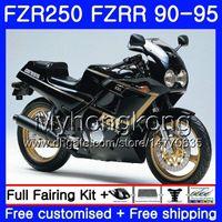 Fzrr Black Heiß voll für Yamaha FZR-250 FZR 250R FZR250 90 91 92 93 94 95 250HM.20 FZR 250 FZR250R 1990 1991 1992 1993 1993 1995 Verkleidungsset