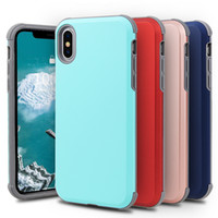 Hybird 2 in 1 Slim Shock Proof Case For iPhone x xr 6 7 8 Pl...