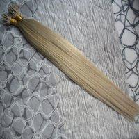 Micro Nano Loop Ring Cabelo 100g 100% Remy extensão do cabelo virgem do cabelo brasileiro Em Linha Reta Micro Loop Brasileira 100 pcs Nano Anéis Contas