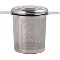 Filtro Acessórios de cozinha malha Chá Infuser do metal do copo de aço inoxidável coador de chá Folha Sieve Tea Bag ZC1744 Titular