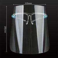 США Шток, защитные Маска для лица с очками Прозрачный Анти Флюиды Защитная маска против пыли Всплеск Рот Face Clear Защитная маска