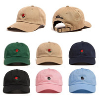 Hip Hop 5 colors Hat The Rose Embroidered Baseball Caps Adju...