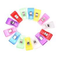 공예 퀼트 바인딩 의류 페그 뜨개질 도구 투명 휴대용 재봉 클립 멀티 컬러 가방 클립 작은 공 15sy의 CC