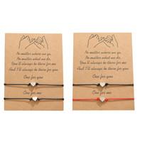 Желание браслет с подарочной картой женщины сердце браслеты дружбы для женщин Дружбы поздравительные открытки ювелирные изделия подарок