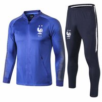 Zipper Tracksuit French 2018 19 Soccer Tracksuit Football Ja...