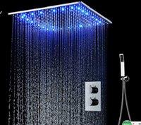 2020 Moderne eenvoudige vierkante plafond top spray led douche badkamercomponenten roestvrijstalen multifunctionele douche set