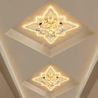 Современный светодиодный кристалл бабочки потолочные светильники гостиной прожектор коридор проход потолочная лампа креативное крыльцо входное освещение